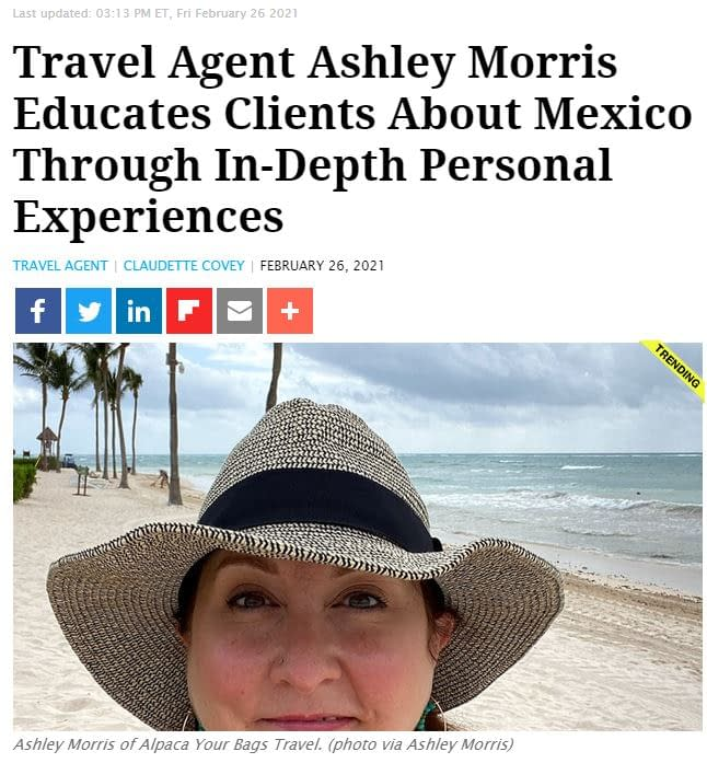 Travel Pulse Travel Agent Ashley Morris